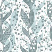 Fotografie Lilies of valley seamless pattern