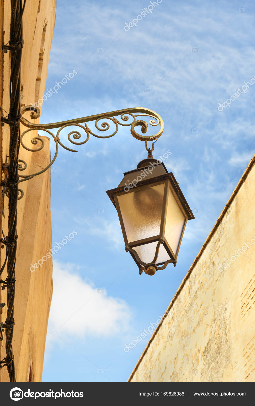 Street light in medina of Fes. Morocco u2014 Stock Photo & Street light in medina of Fes. Morocco u2014 Stock Photo © ElenaOdareeva ...