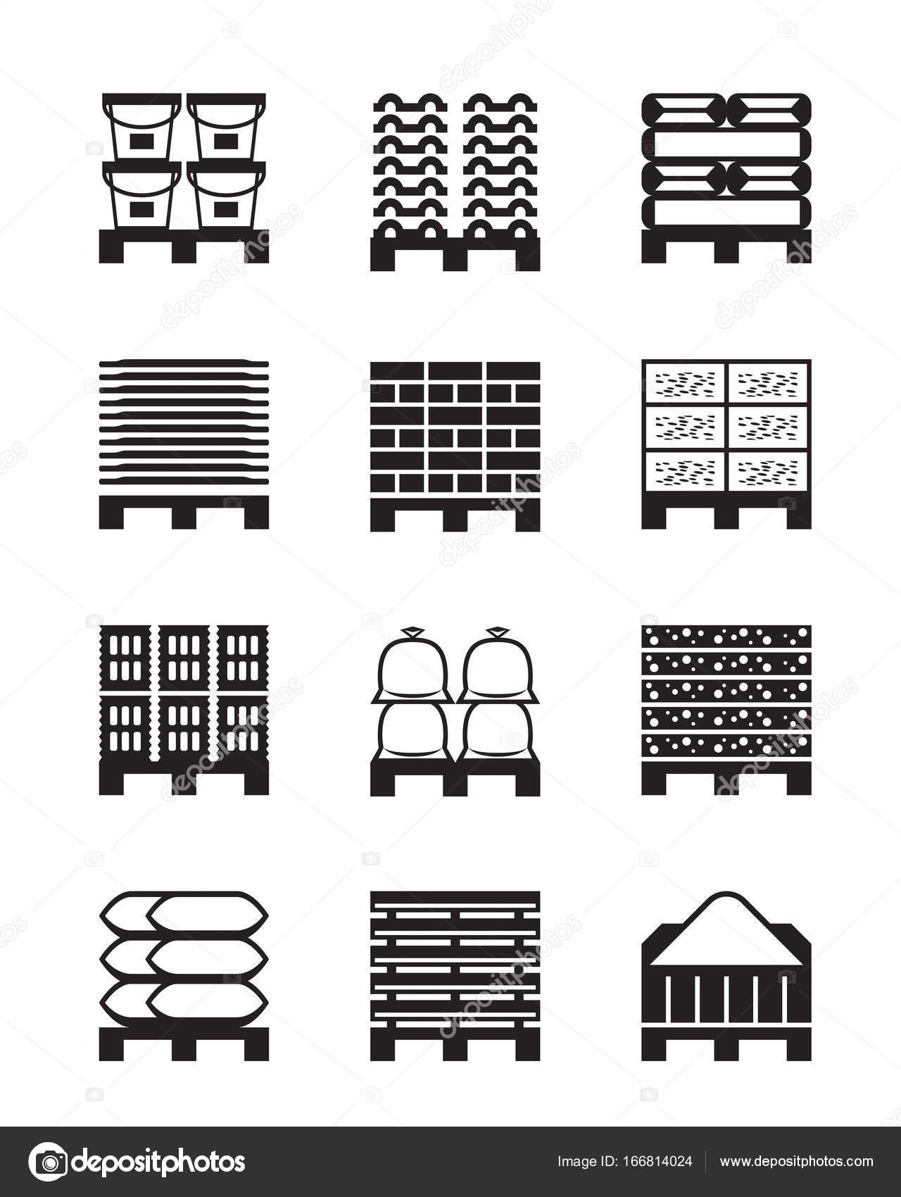 palettes avec diff rents mat riaux de construction image vectorielle angelha 166814024. Black Bedroom Furniture Sets. Home Design Ideas