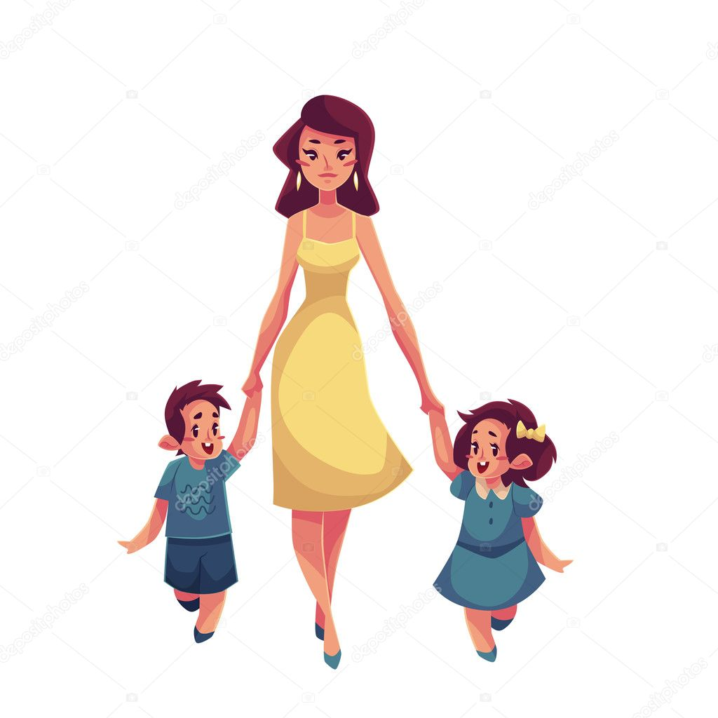madre  hija e hijo caminar juntos vector de stock mothers day clip art black and white mother's day clipart free devotions