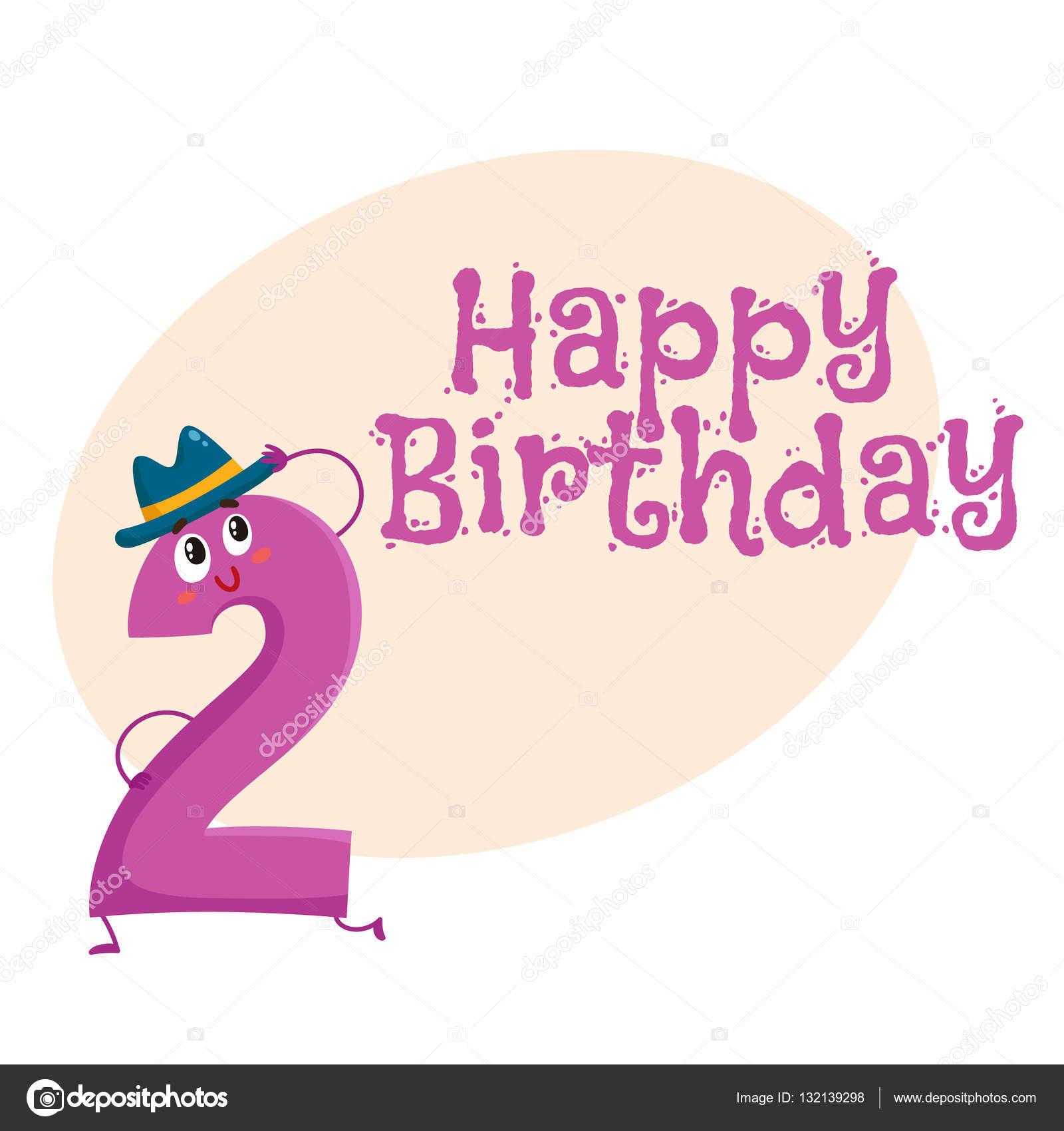 Happy birthday vector greeting card design with two number happy birthday vector greeting card design with two number characters stock vector kristyandbryce Gallery