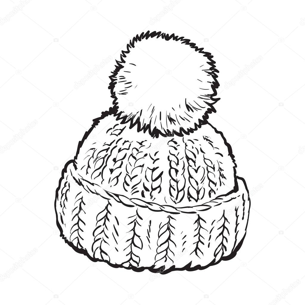 It's just a photo of Invaluable Winter Hat Drawing