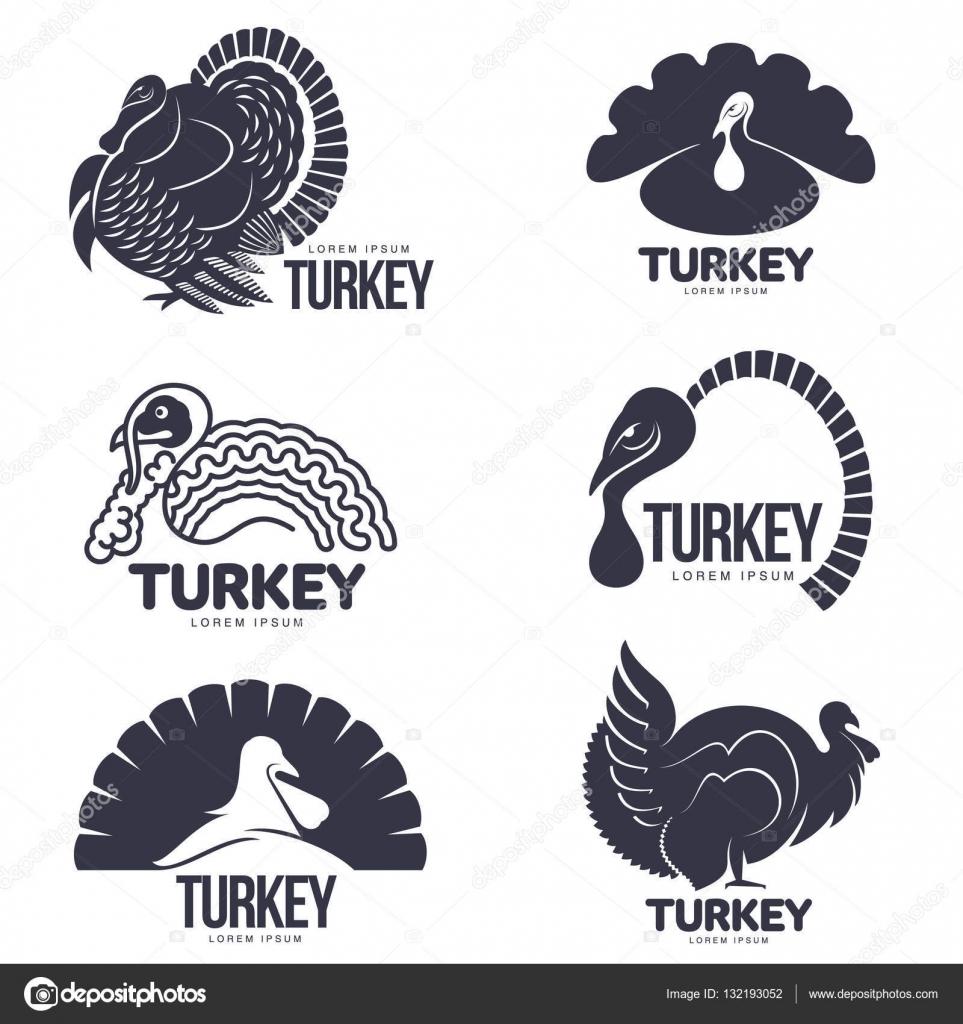Satz der Türkei stilisierte Grafik Logo-Vorlagen — Stockvektor ...