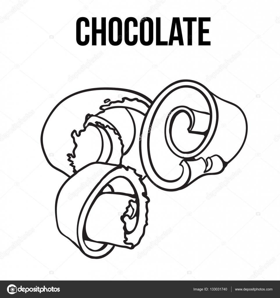 Copeau De Chocolat Noir Et Blanc S Enroulent Spirale Pour