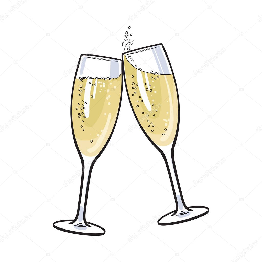 champagne flute cartoon vector images 43 - HD 1000×1080