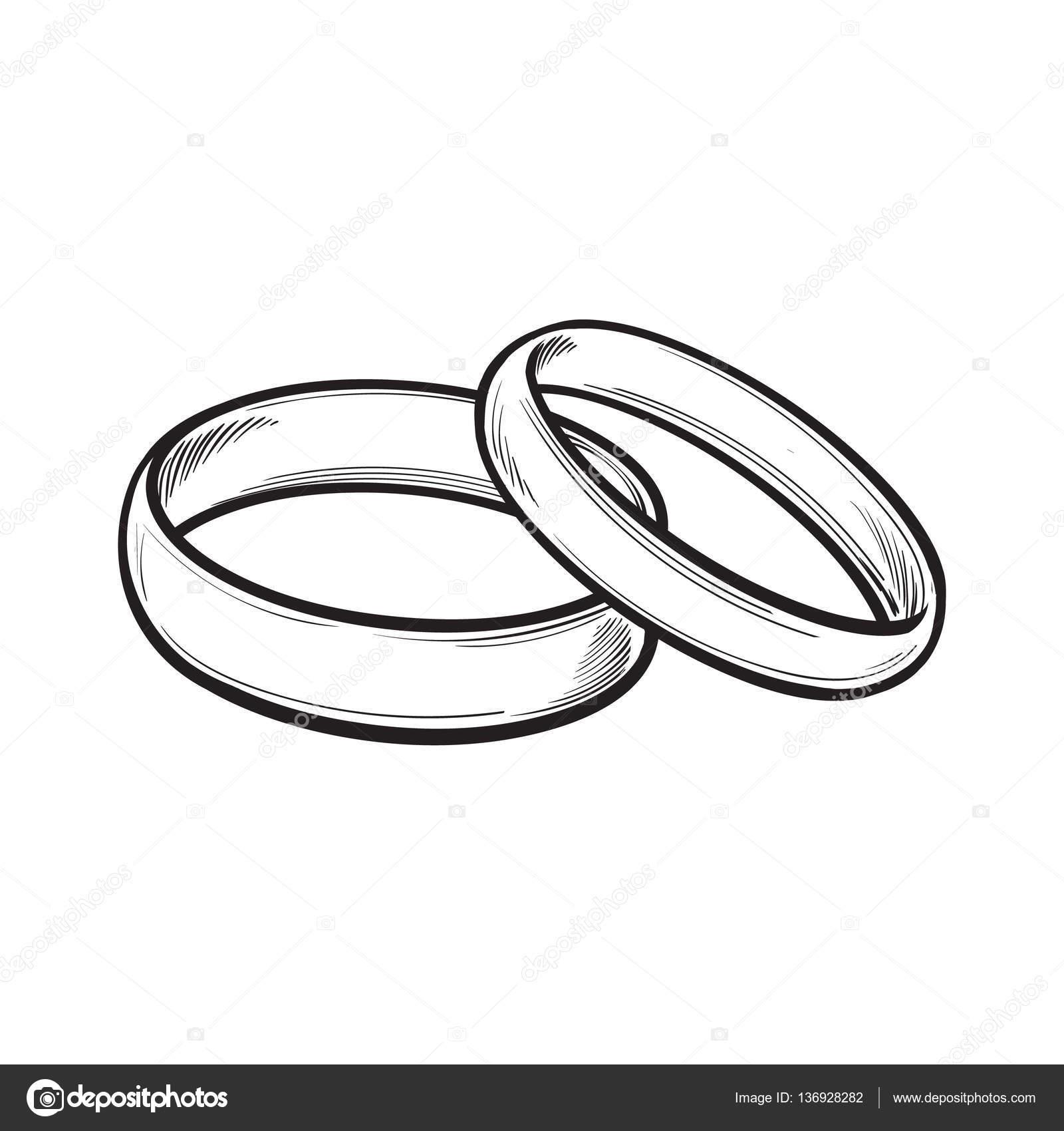 Par De Alianças Tradicionais Para A Noiva E O Noivo