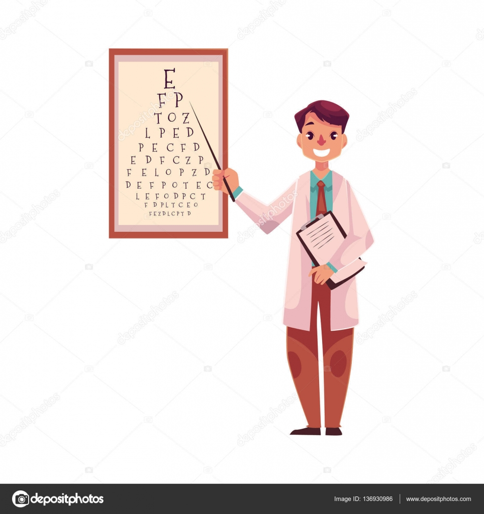 Optometrist doctor pointing to a letter on eye examination chart optometrist doctor pointing to a letter on eye examination chart stock vector 136930986 nvjuhfo Choice Image