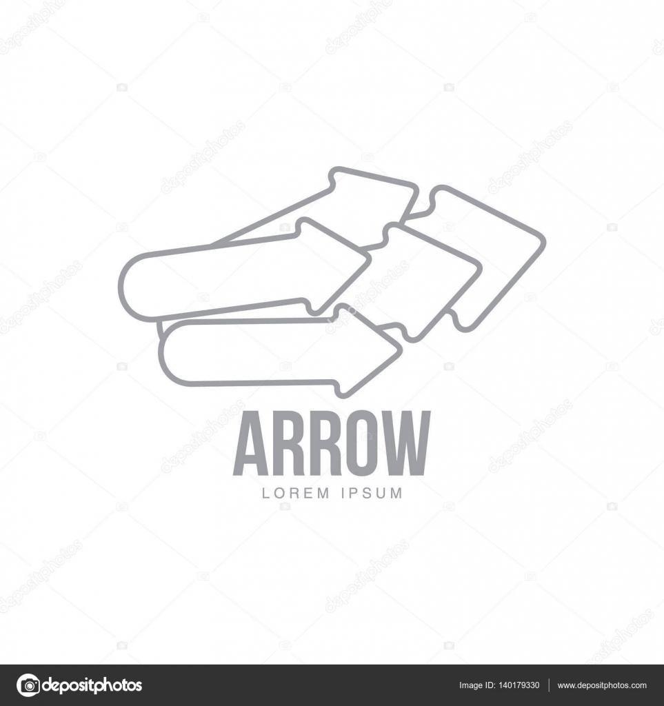 Plantilla de logotipo corporativo con cinco flechas apuntando a ...