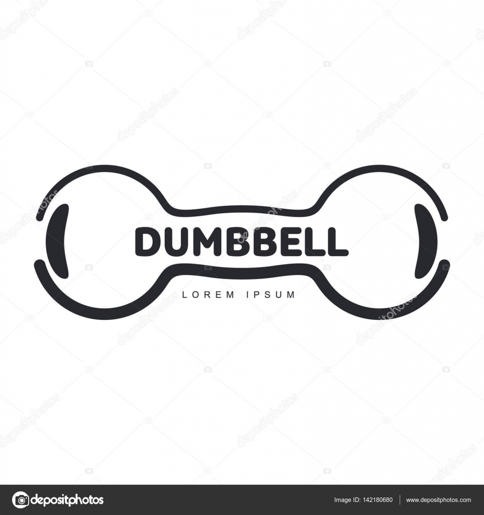 Graphic Logo Template With Horizontal Iron Cast Retro Style