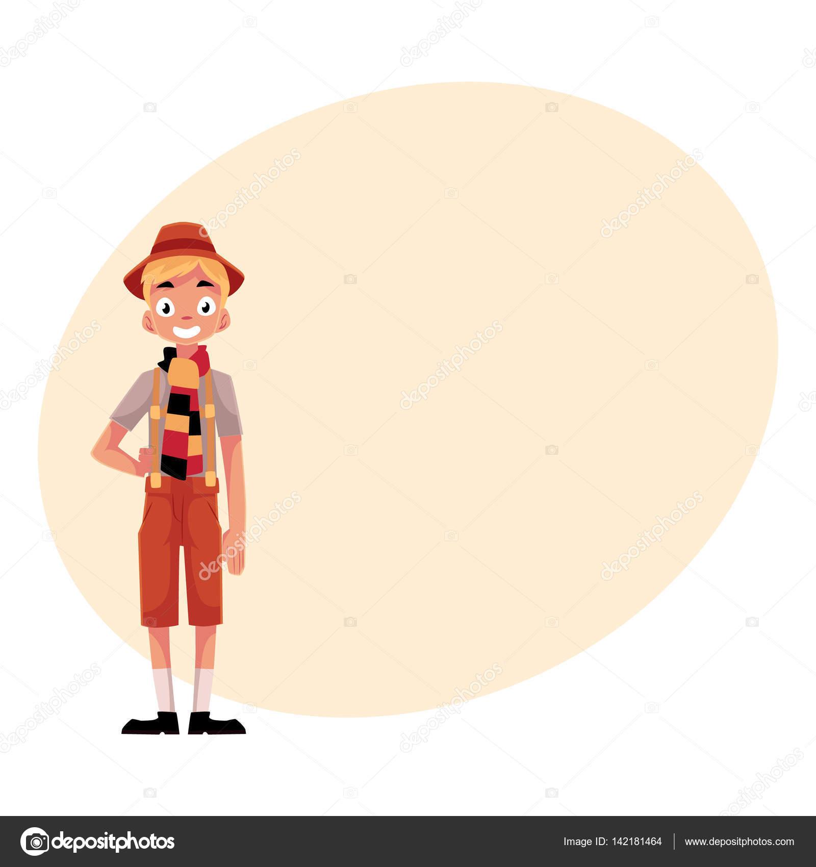 Joven con traje tradicional de Oktoberfest bávaro alemán c5f01eb3980