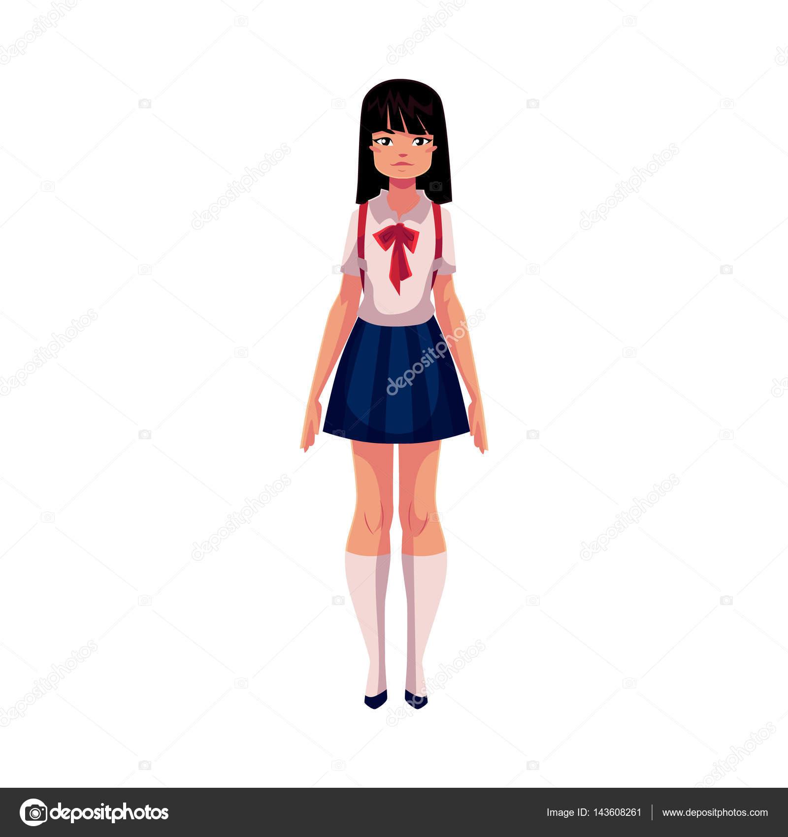 Adolescente japonesa con afeitado