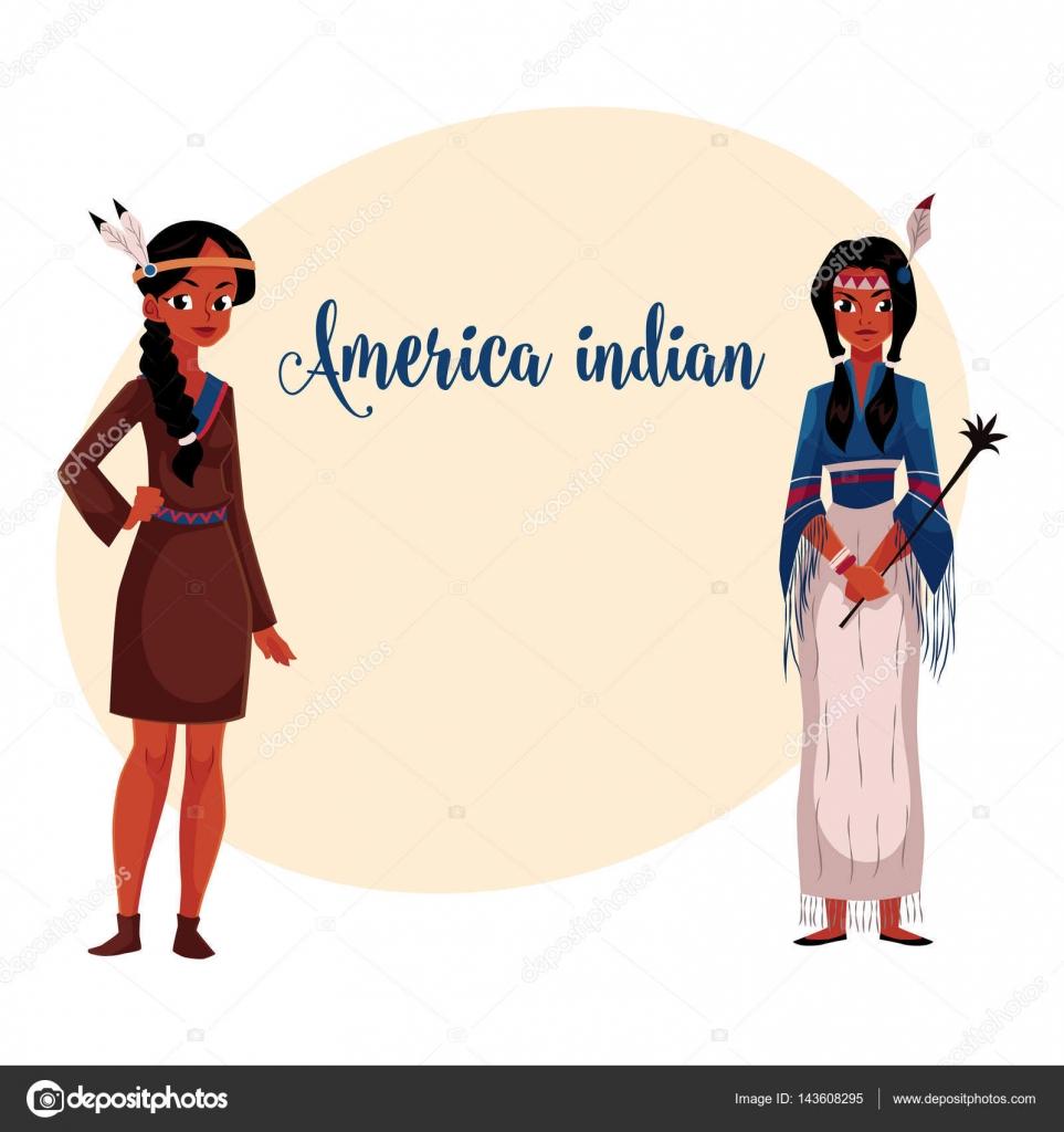 Американських індіанців Індійська жінка в традиційних buckskin ... c03cba4ec8818
