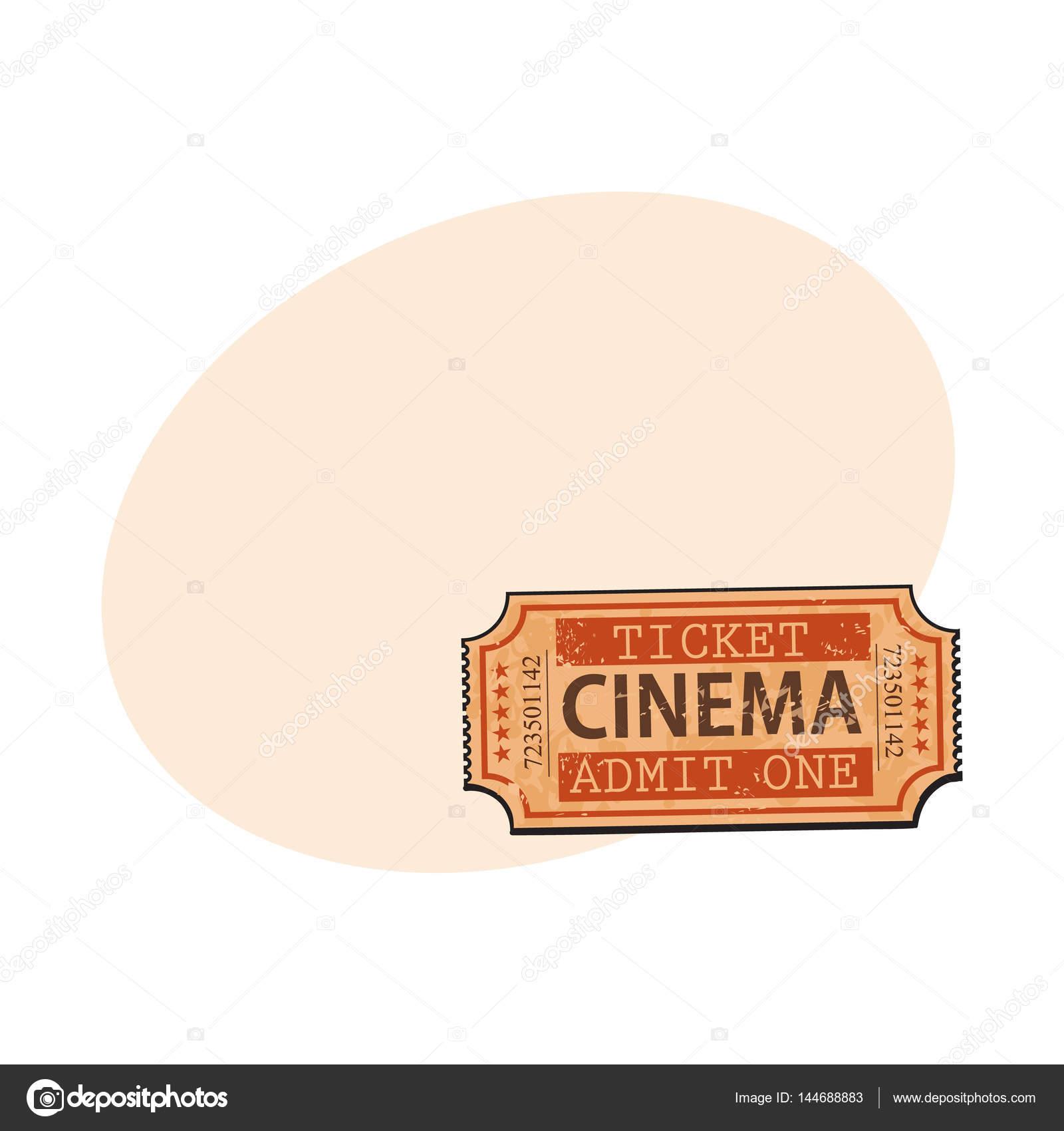 Ein Retro-Stil, Vintage Kino, Film-ticket — Stockvektor © Sabelskaya ...