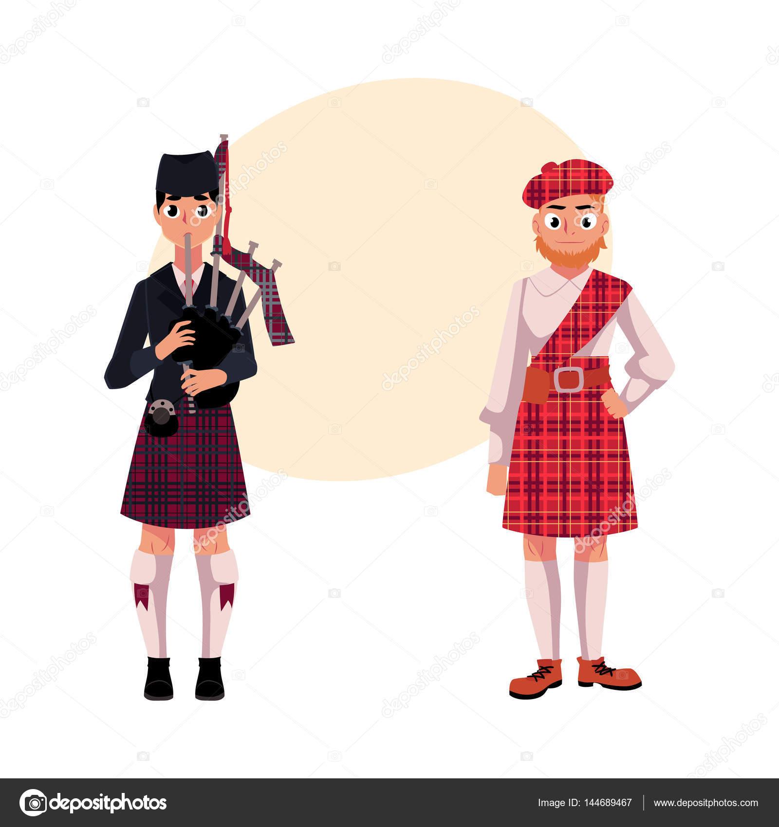 Dos hombres escoceses en ropa nacional 83a8653b2cc