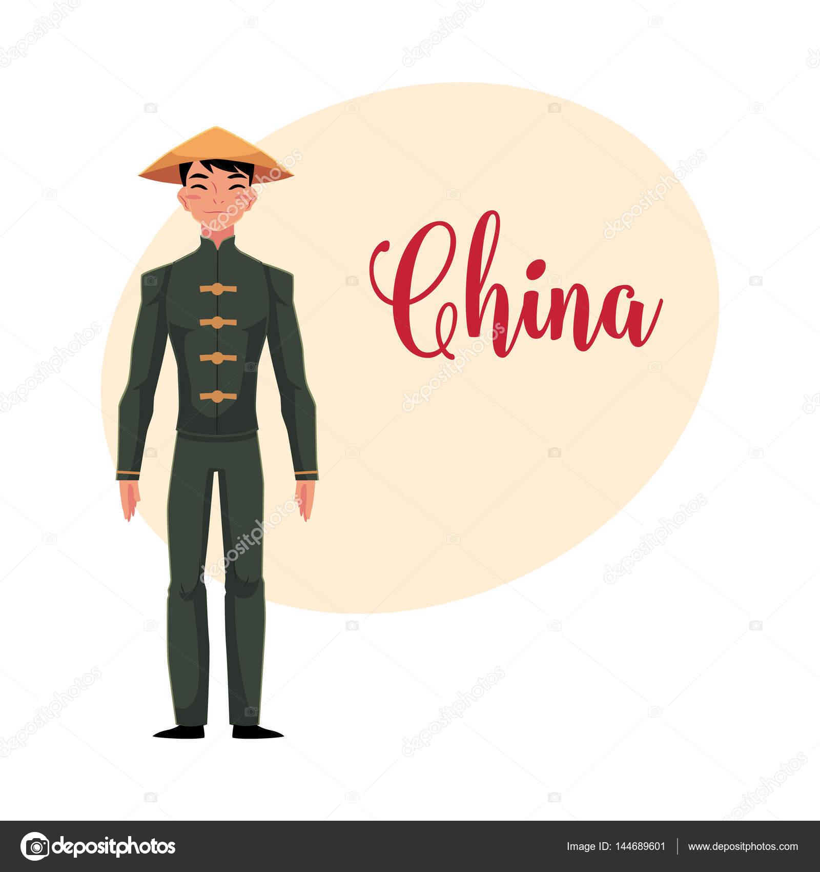 Hombre chino tradicional traje nacional traje negro y for Menu cinese tipico