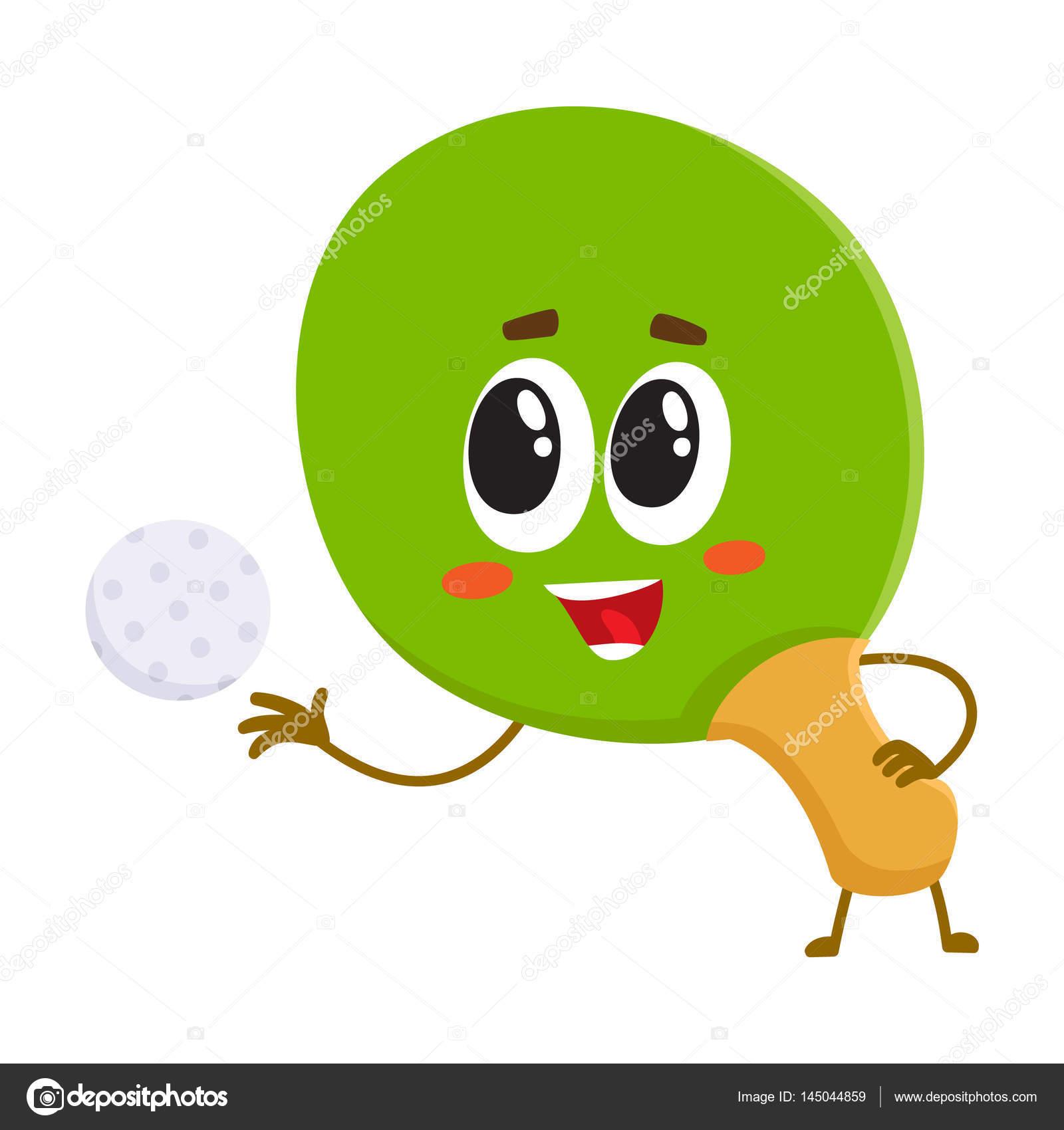 Z bavn stoln tenis ping pong raketa charakter s lidskou - Tennis de table poitou charente ...