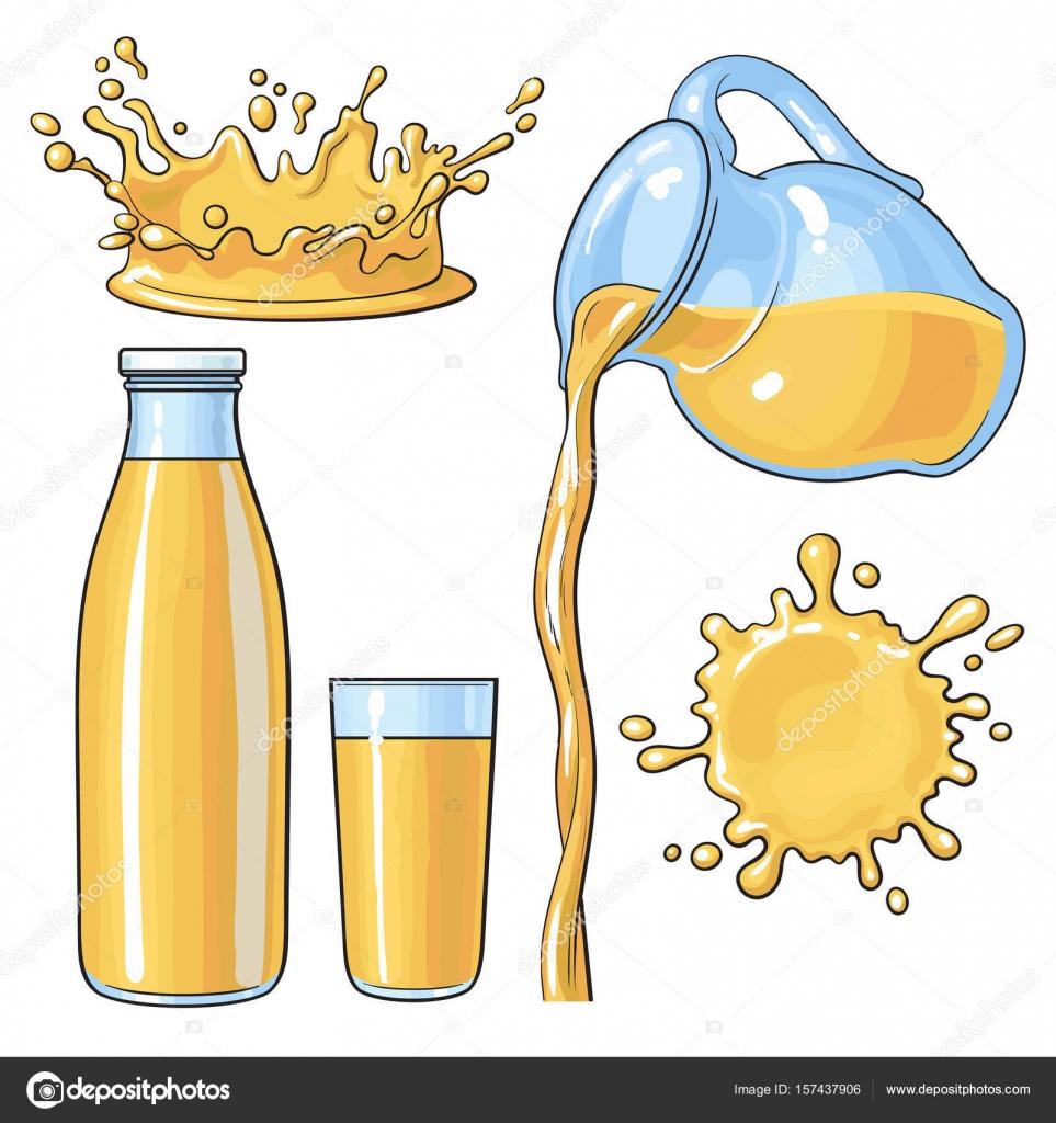 飛散や水差しガラス瓶にオレンジを注いでベクトル イラスト