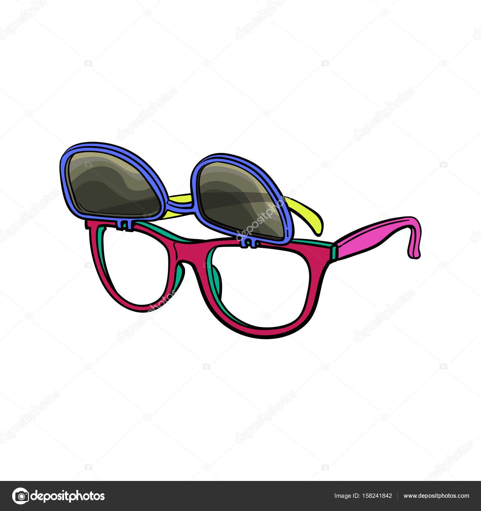 Retro Wayfarer Sonnenbrille Mit Austauschbaren Objektiven Mode