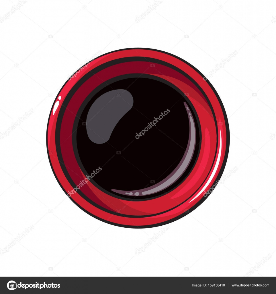 Top View Drawing Of Soy Sauce Bowl Chinese Japanese Cuisine