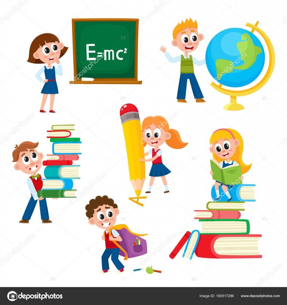 Karikatury Komiks Deti Deti Ve Skole Stock Vektor C Sabelskaya