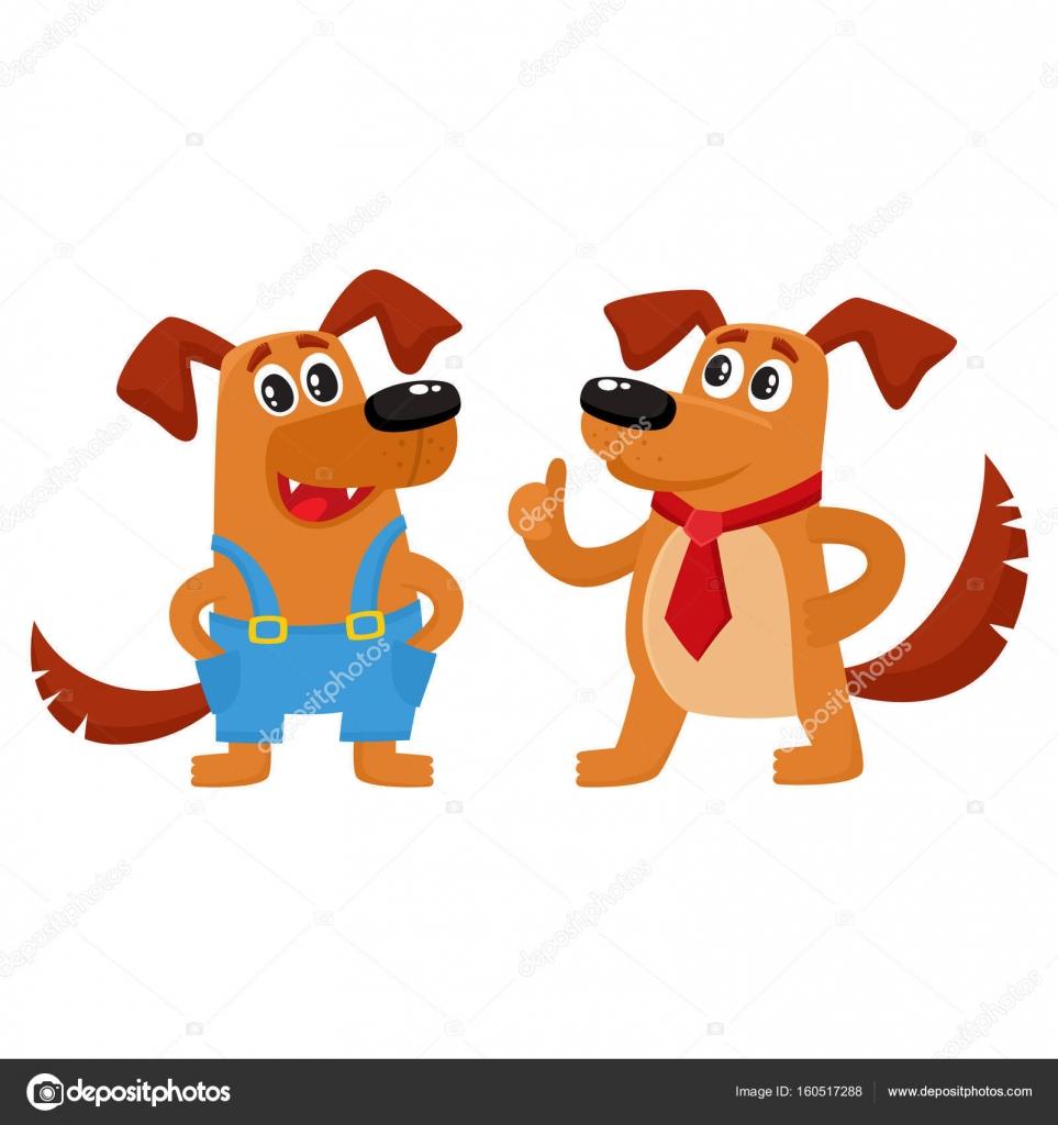 Krawatte Blauen Hund In Und Roter Zwei Zeichen Overalls u3lF5K1JcT