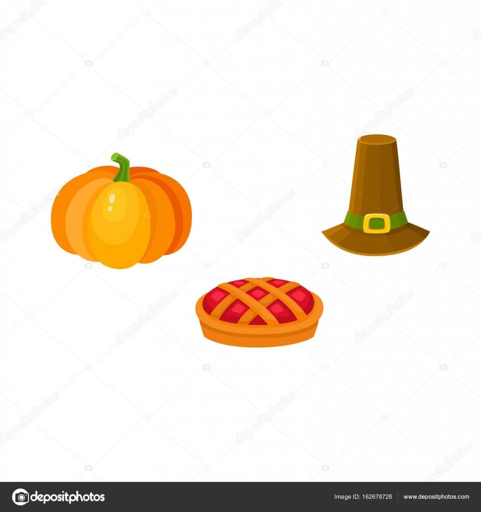 Juego de acción de gracias - calabaza, pastel de frutas, sombrero de ...