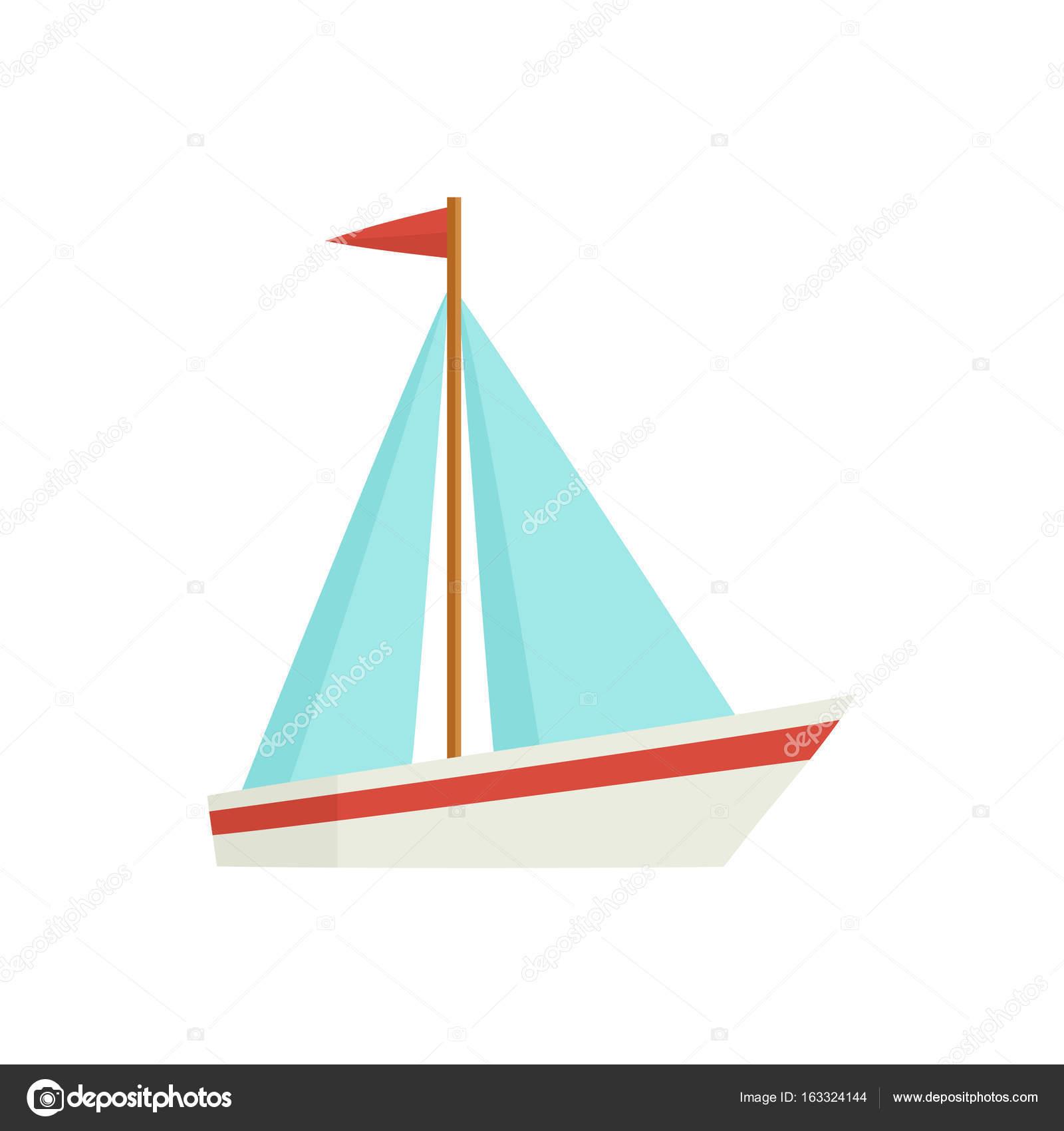 Plat de dessin anim petit voilier bateau voilier image vectorielle sabelskaya 163324144 - Dessin petit bateau ...