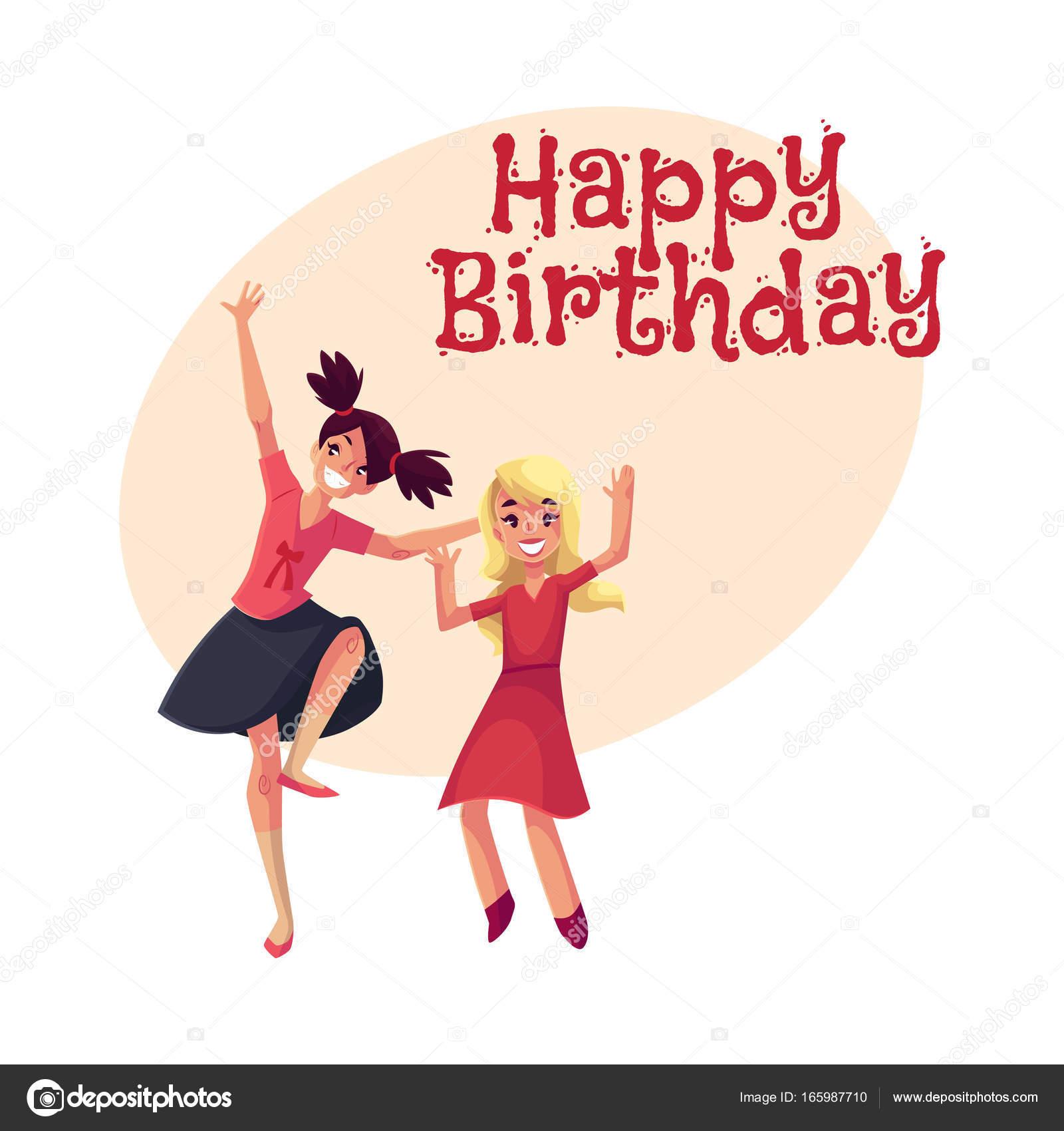 4b345bd75 Tarjeta de felicitación de vector de feliz cumpleaños