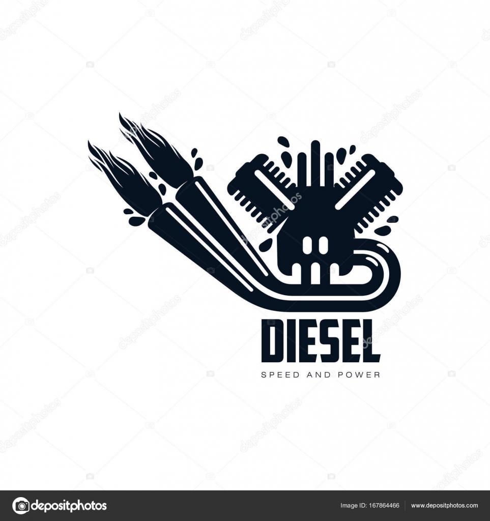 Vektor-Benzin-Motor einfach flach Symbol Piktogramm — Stockvektor ...