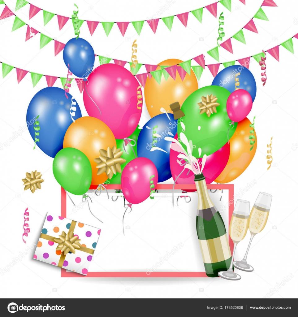 vector happy birthday banner poster template stock vector