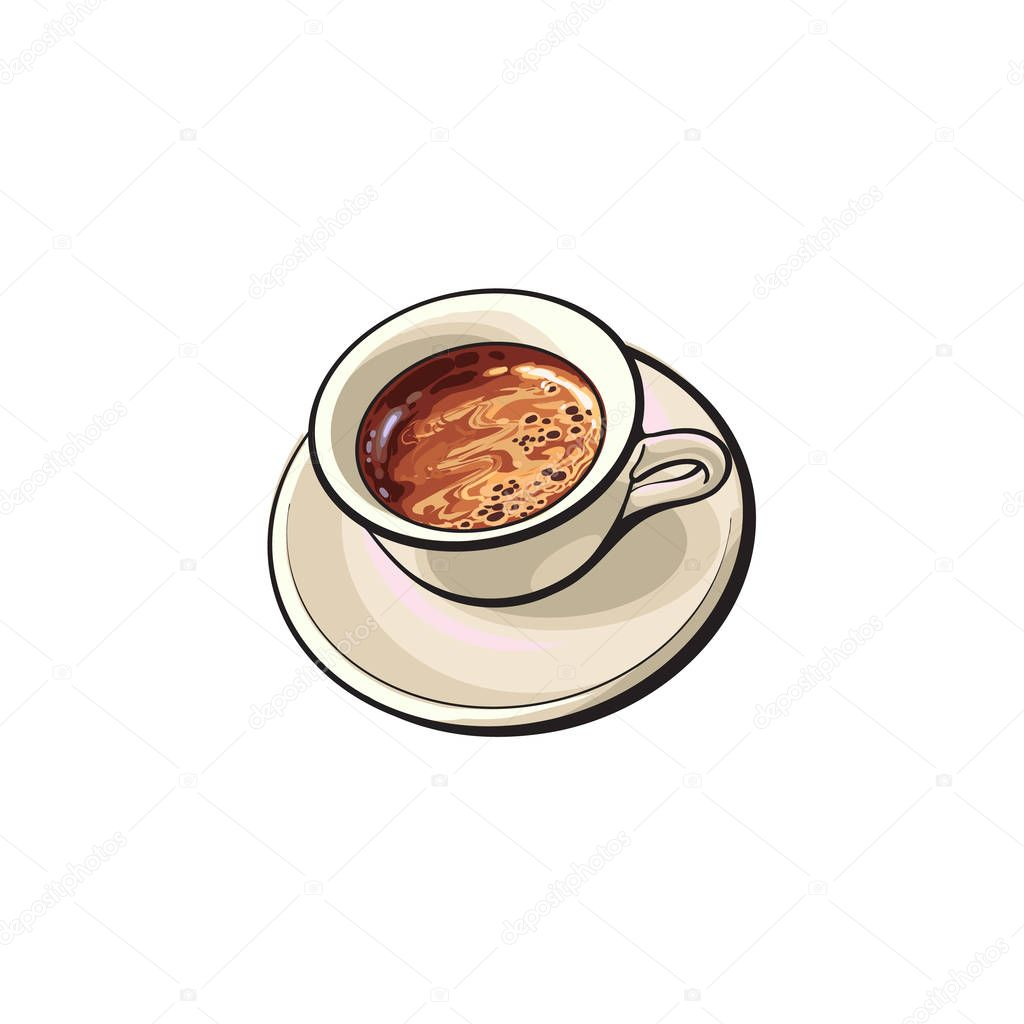 Black Americano, Espresso, Turkish coffee drink — Stock ...