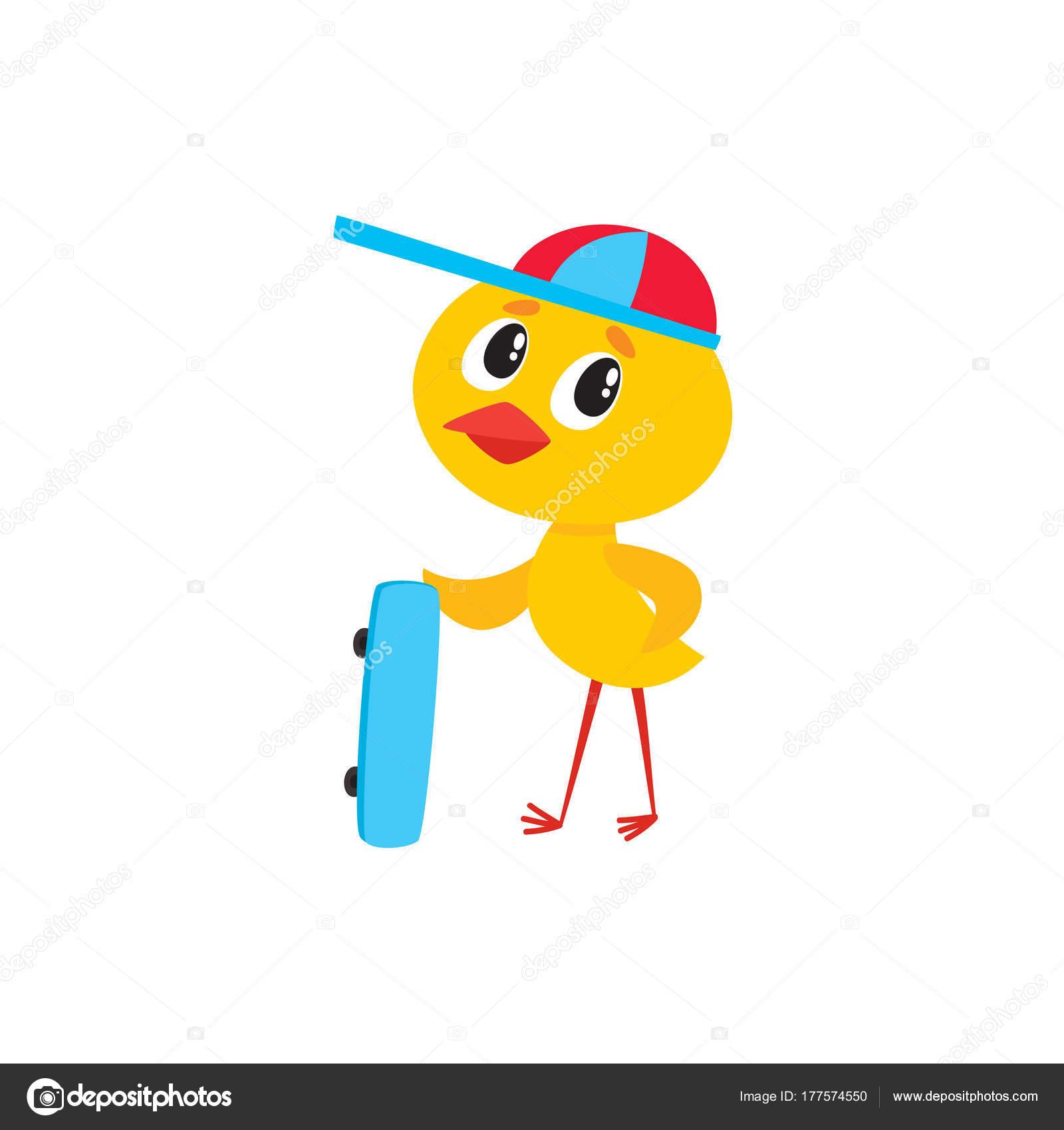 super populaire 56a72 1b9d2 Patín de explotación de carácter de lindo bebé pollo chico ...