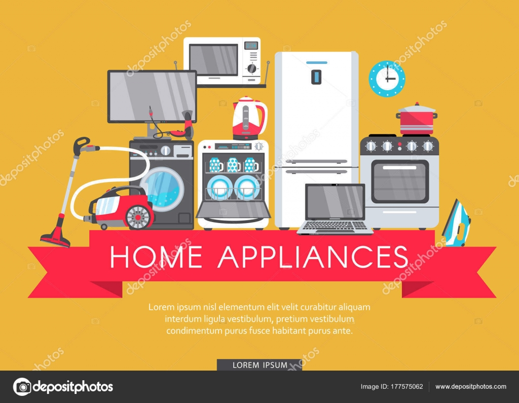 Vector Flat Home Appliance Sale Icon Stock Vector C Sabelskaya