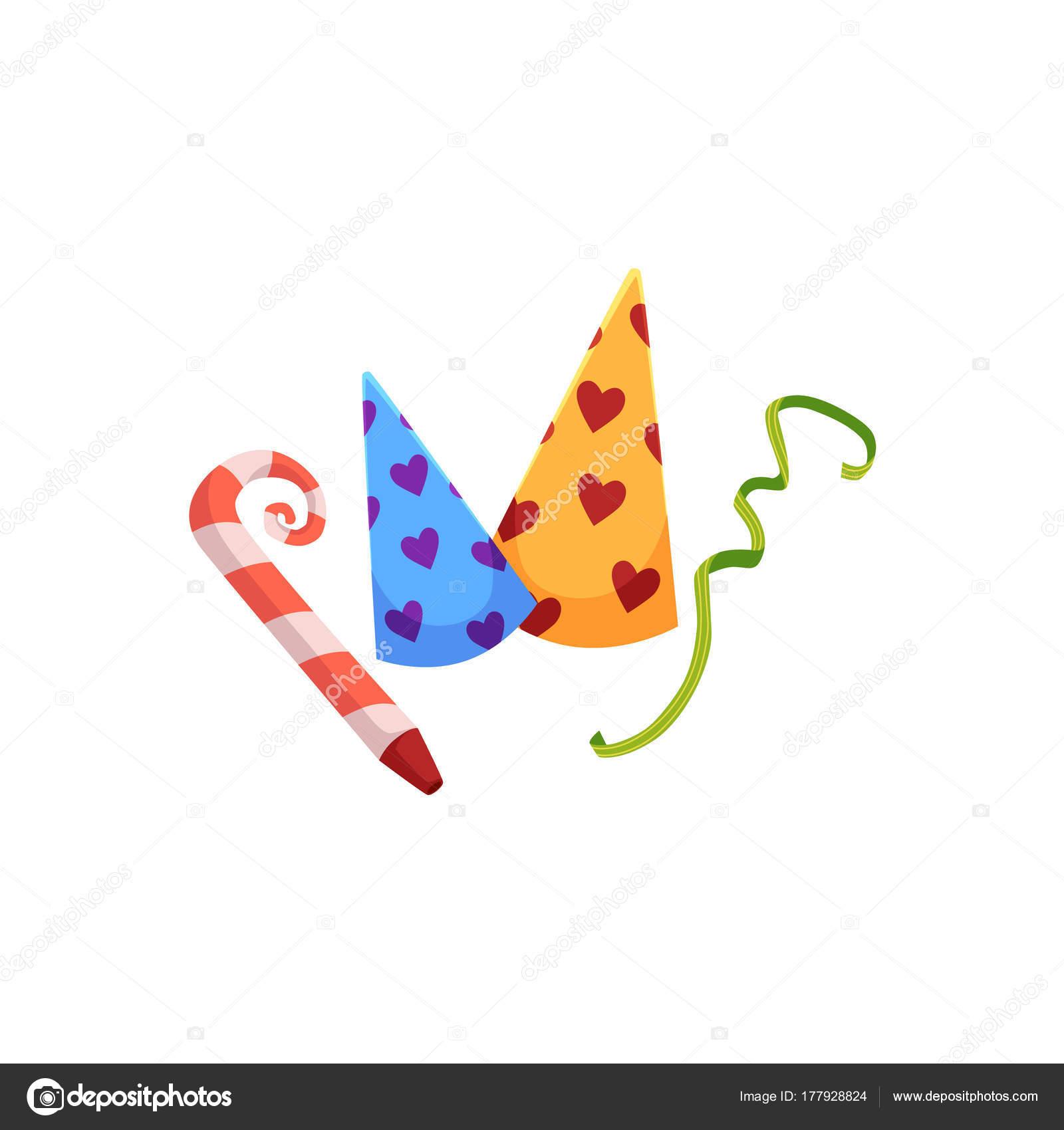 Set di cappelli di compleanno e partito corno 1b76d869bc16