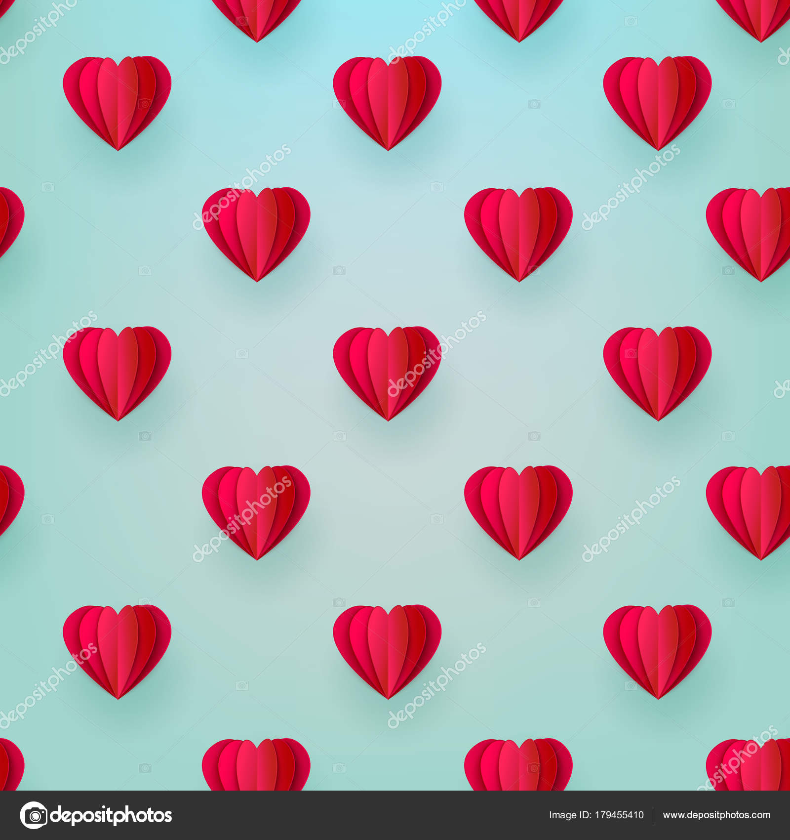 FREE template to make paper 3D heart for your Valentine | 1700x1600