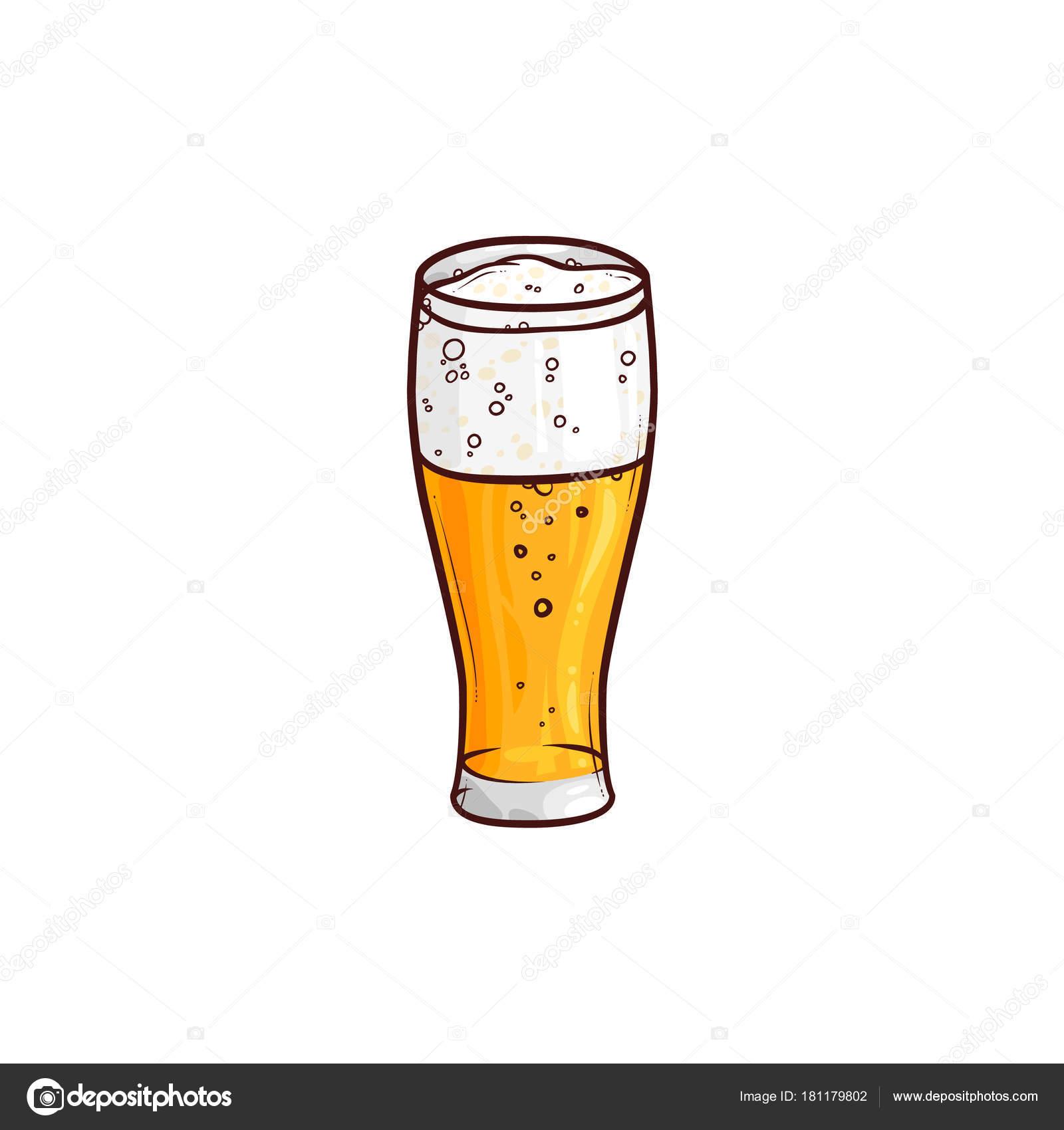 mão extraídas de copo de cerveja cerveja cerveja cidra vetores