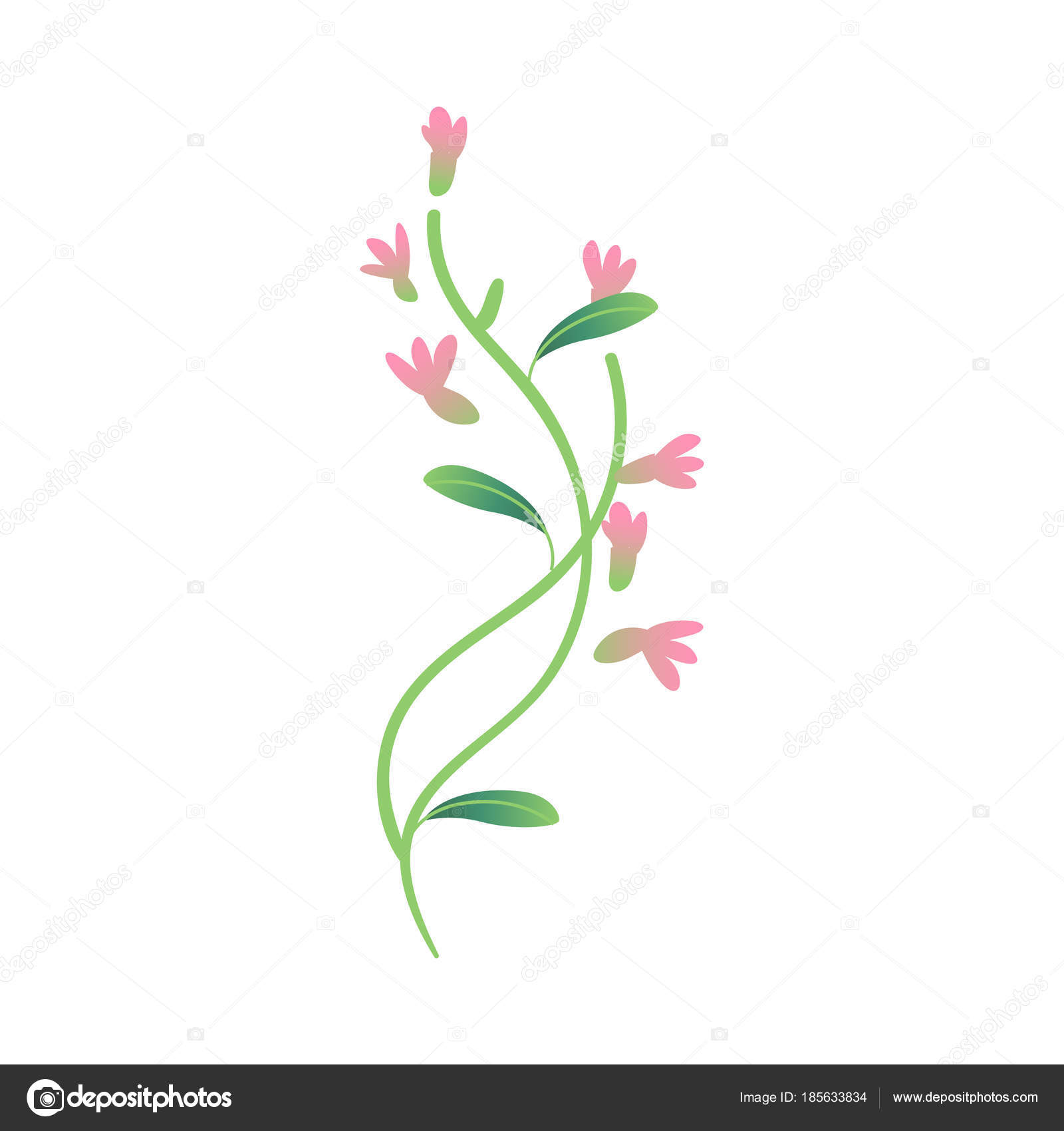 Vector Cartoon Abstract Pink Flower Icon Stock Vector Sabelskaya