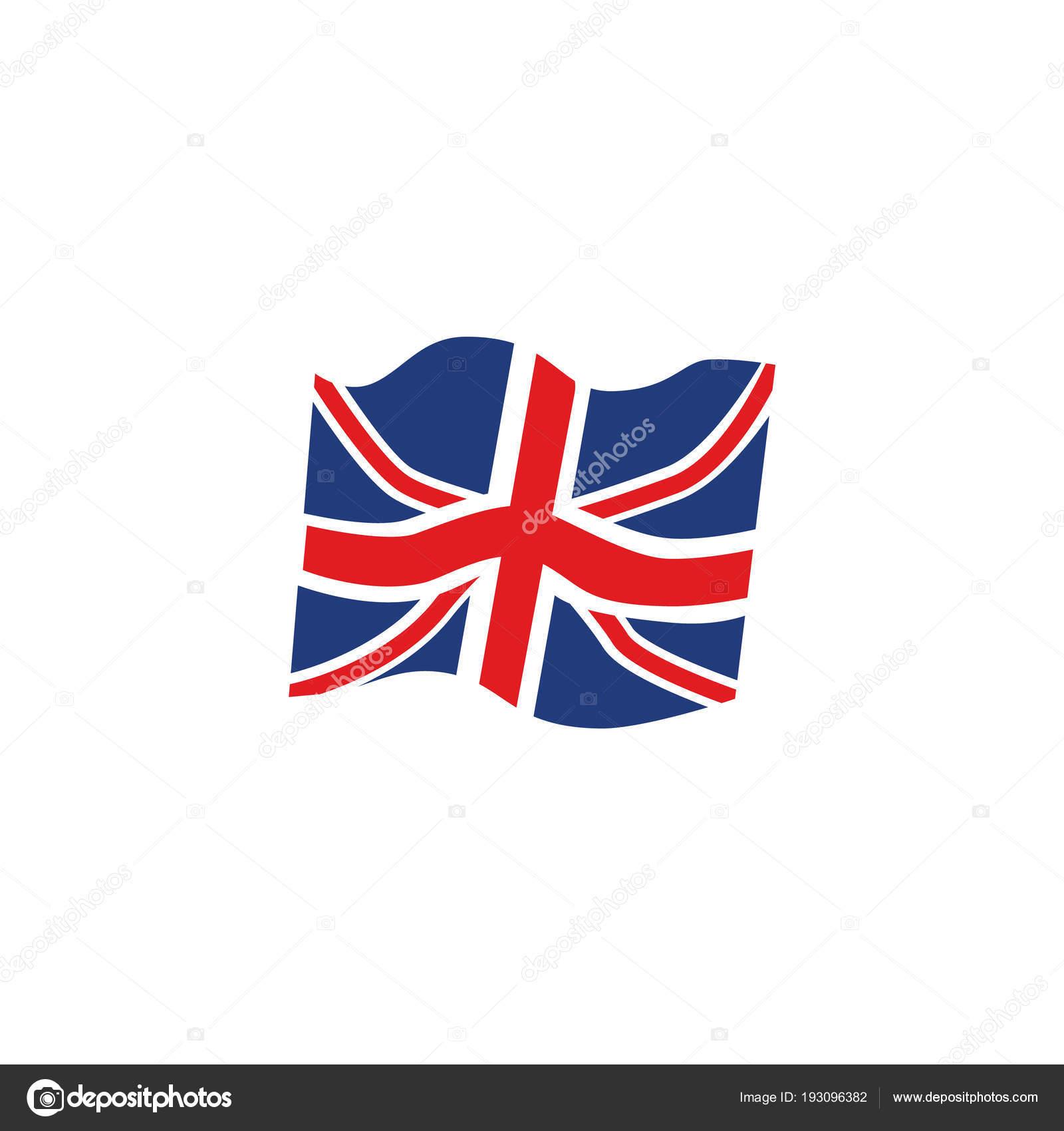 Sfondo Bandiera Inglese Rosso Icona Di Vettore Piatto Unione Jack