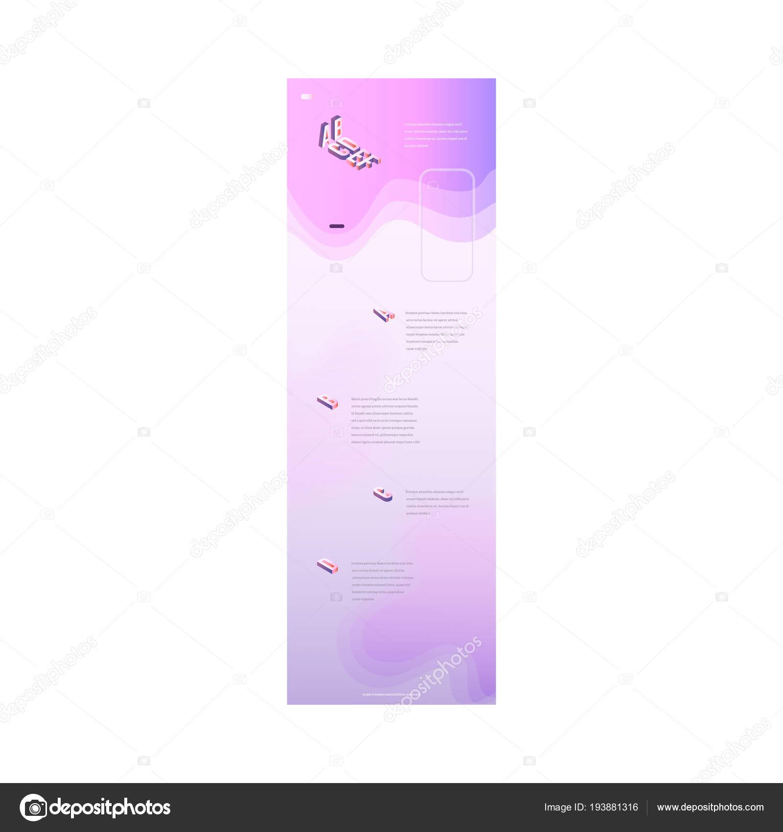 Plantilla de página de aterrizaje con el hermoso fondo en colores ...