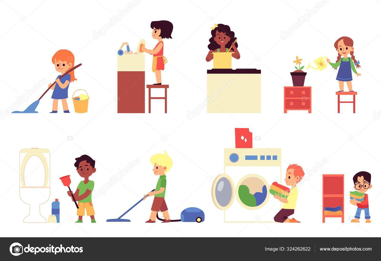 yo limpio mi casa | Clip art, Clip art library, Kids clipart