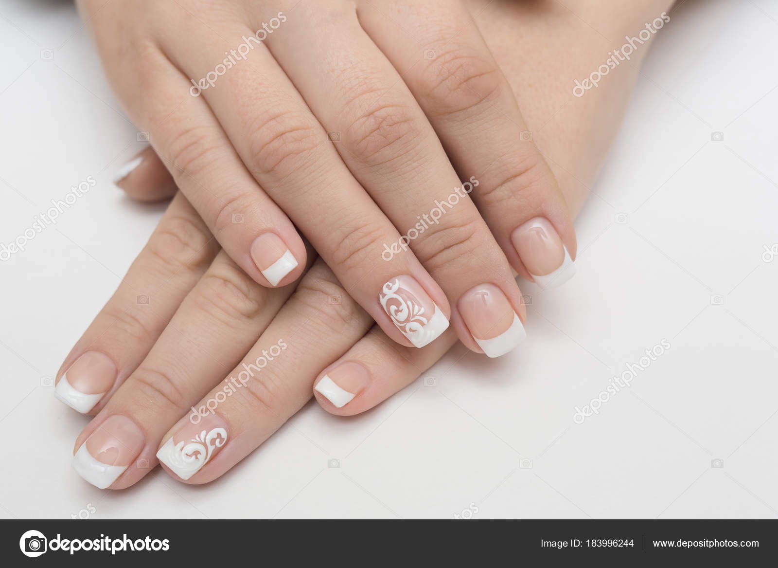 Faszinierend Nägel Muster Beste Wahl Maniküre Und Weiß Abstrakte Auf Womens Nägel