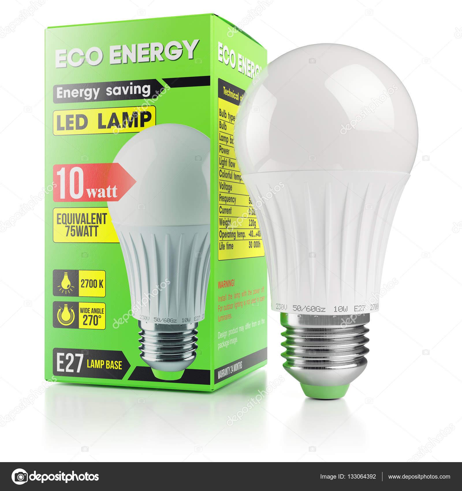 Lampe Led Moderne Energie Epargne En Caisse D Emballage