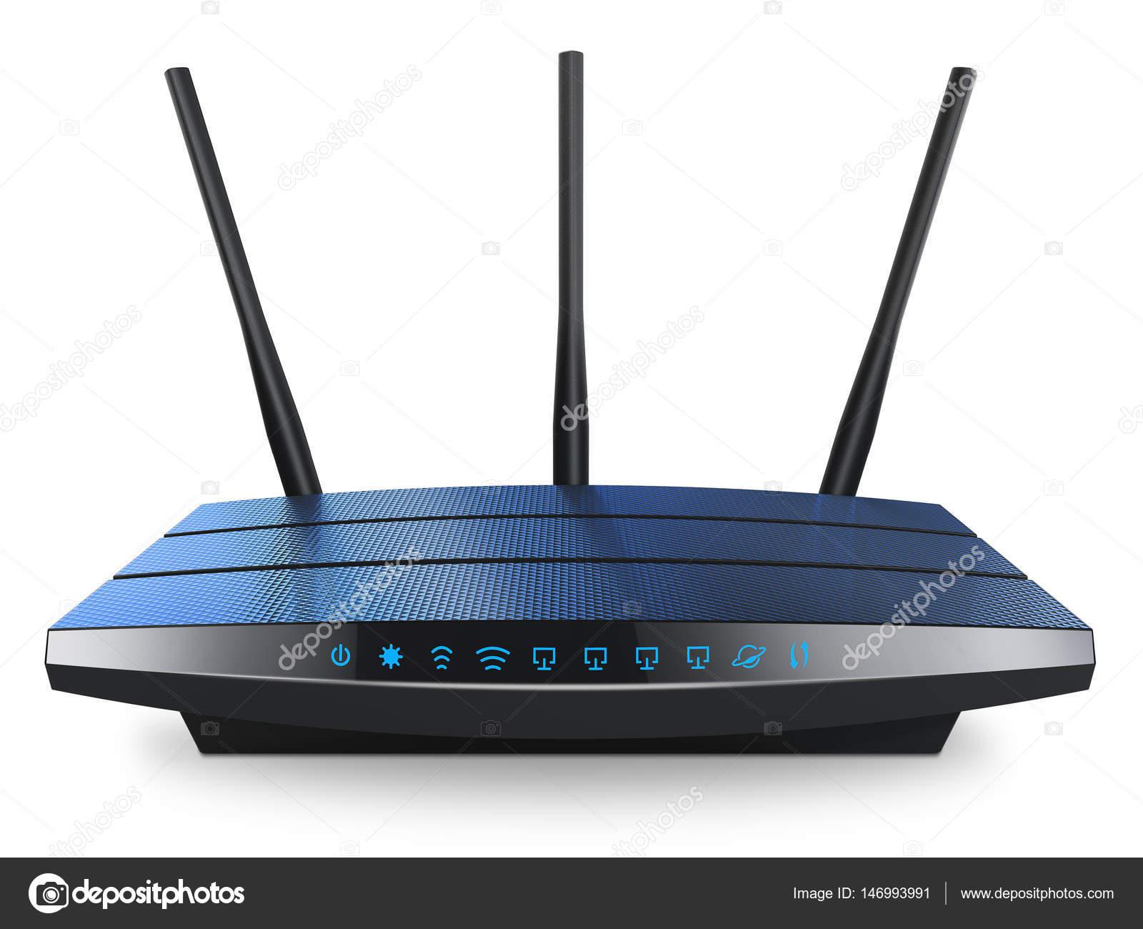 Router inalámbrico de internet Wi-Fi — Fotos de Stock ...