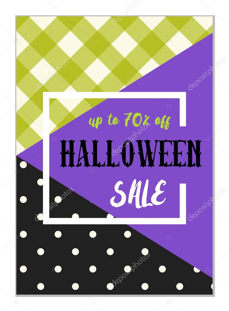 halloween sale flyer template ストックベクター ishkrabal 126737606