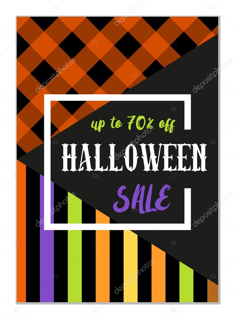 Halloween sale flyer template Vector IShkrabal 126738964 – Sales Flyer Template