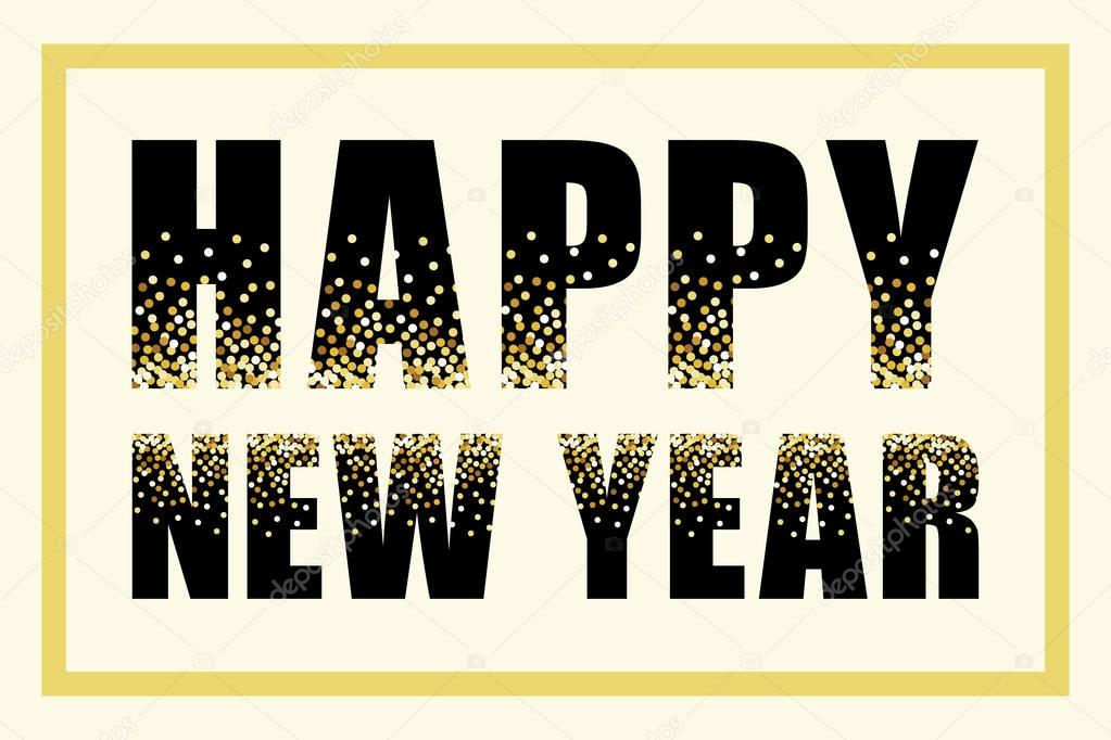 glamour happy new year banner stock vector