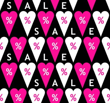 Sale seamless pattern with percent symbols