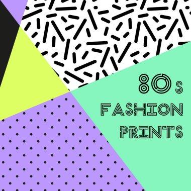 Trendy pattern in 80s style