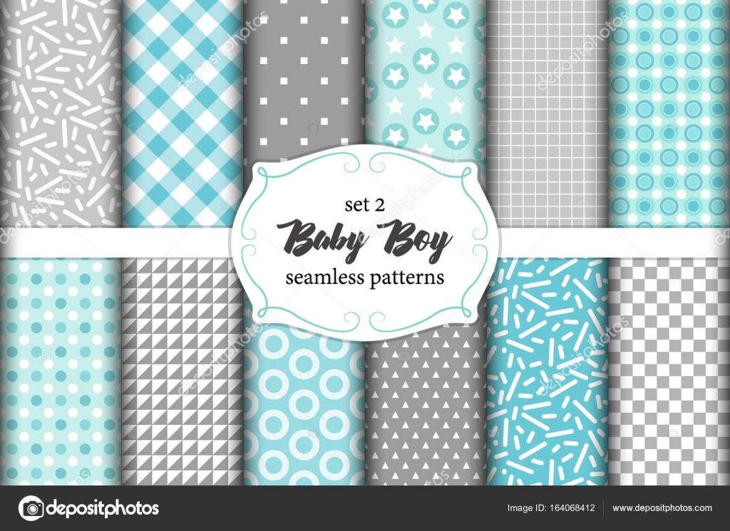 Lindo conjunto de escandinavo bebé patrones sin fisuras con texturas ...