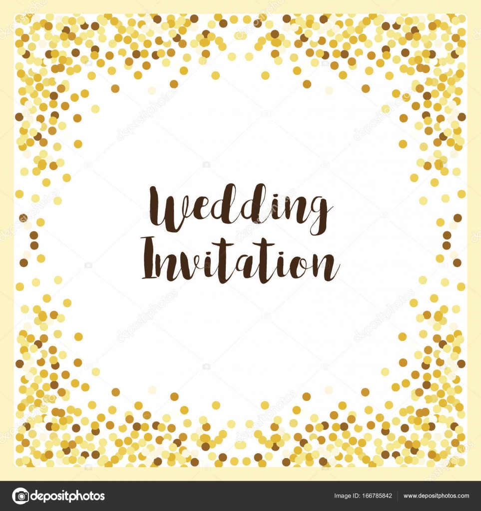 Lujo de la boda plantillas de tarjetas con confeti de oro brillo ...